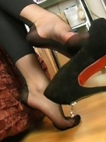 Nylon Stocking Foot Tease